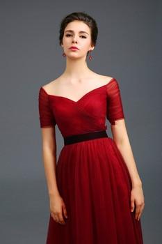 2019 Free shipping V-neck Prom Party gowns Long Evening dress Robe de soiree vestido de casamento longo com TK438