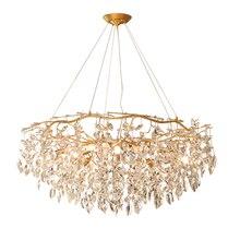 Di lusso lampadario di cristallo di luce soggiorno illuminazione AC110V 220v lustro LED oro kroonluchter sala da pranzo light fixture