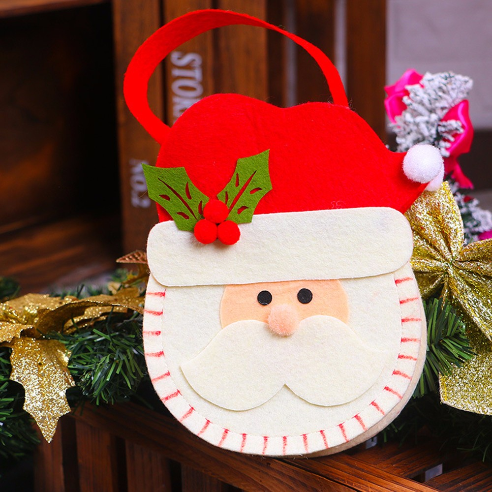Xmas New Cute Christmas Candy Bag Nonwovens Gift Bag Christmas Snowman Shrink Wrap Bags Navidad Decoraciones Para El Hogar nt#