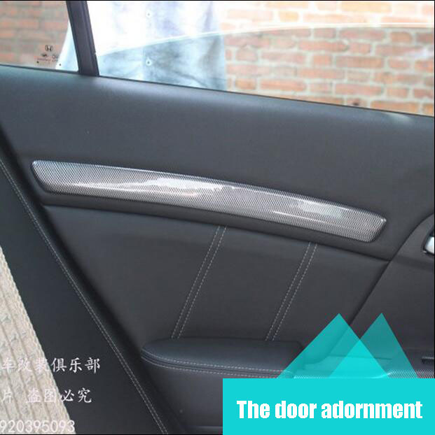 For Honda Civic 9 th 2012 2013 2014 interior modified carbon fiber modification Door stripes decorates the 4 pieces car styling