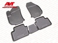 Floor mats for Opel Zafira, 2005 4 pcs rubber rugs non slip rubber interior car styling accessories