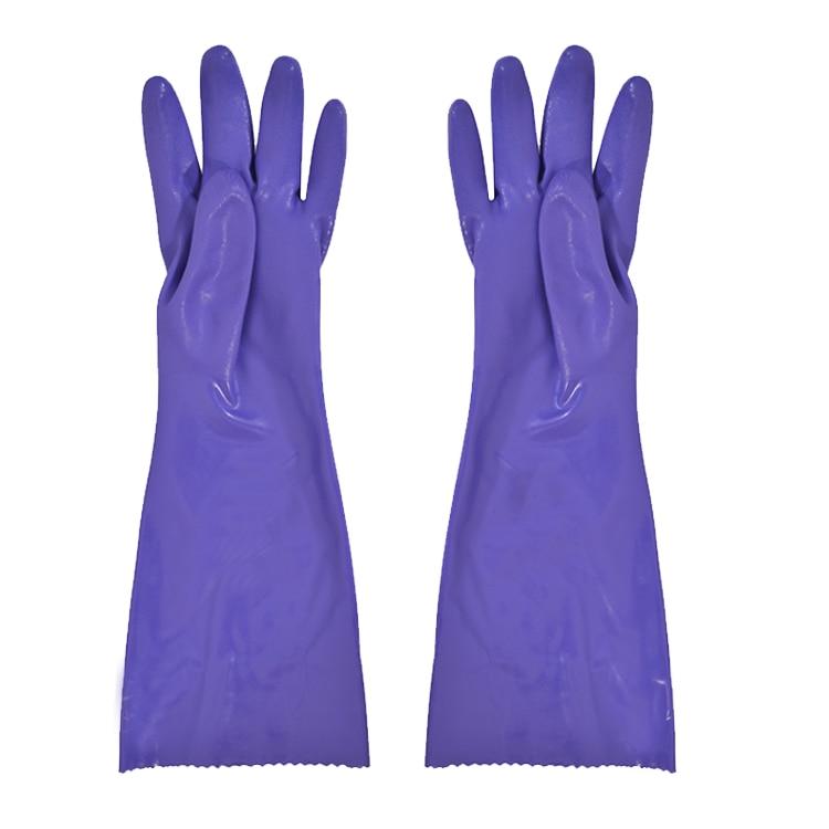 Nemokamas pristatymas 3 porų 40cm PVC apsauginės pirštinės su pynimo pluošto pamušalu termiškai laikančiomis pirštinėmis ir lanksčios.
