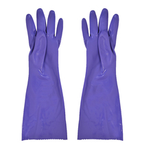 Free shipping 3pairs 40CM  PVC protecting gloves with flocking fiber lining thermal keeping and flexible using.