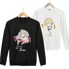 YURI! sobre HIELO Sudaderas Mujer Hombre Manga Larga de Dibujos Animados Impreso Sudaderas Con Capucha de Anime Cosplay Disfraces