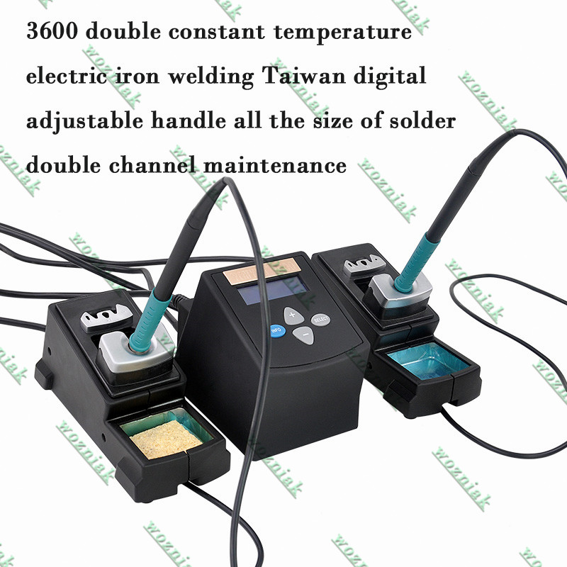 3600 double constant temperature electric iron welding Taiwan digital adjustable handle all the size of solder double channel ma 2017 high quality taiwan bao ss 621h digital adjustable warm air gun electric blower proskit plastic welding torch free shipping