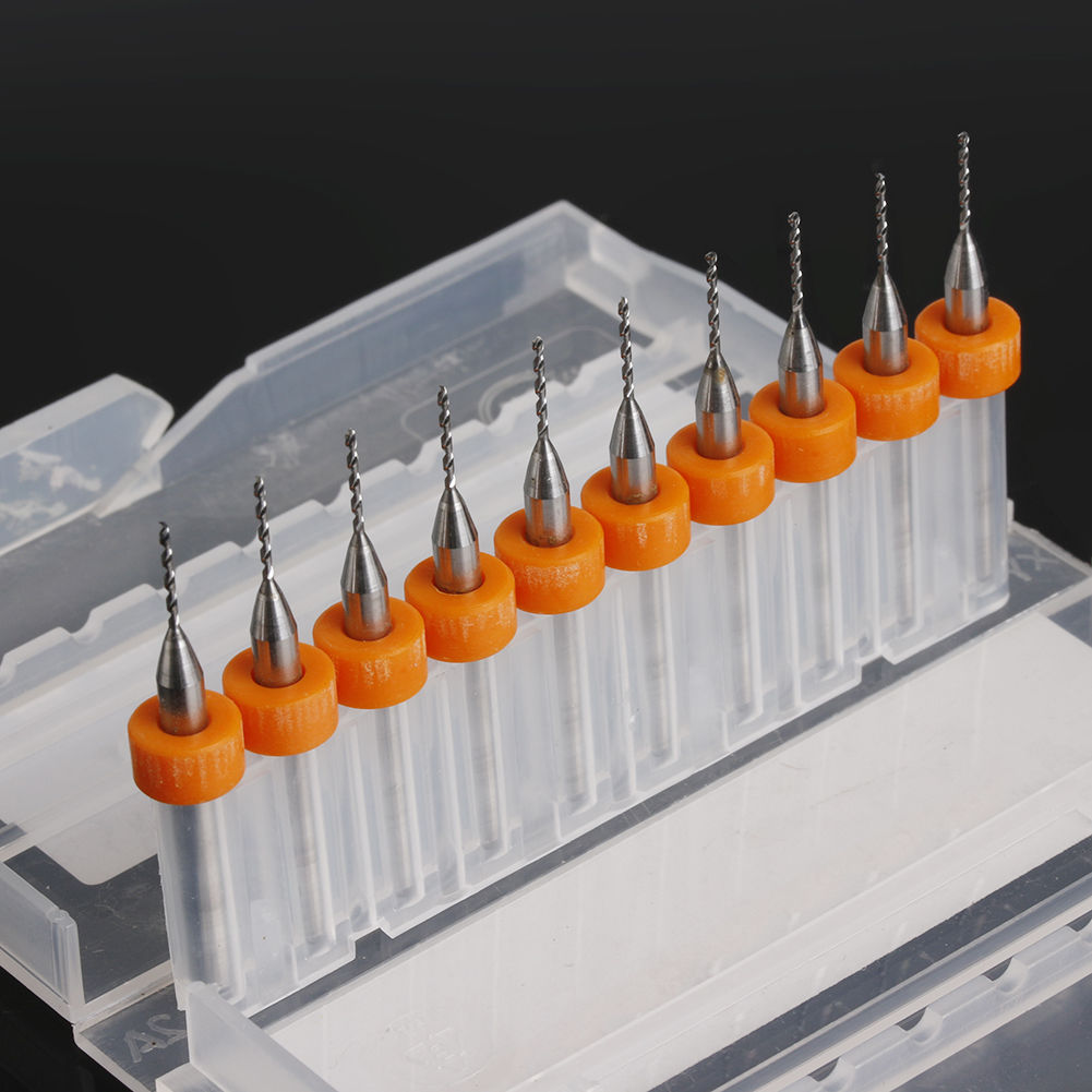 10Pcs PCB Print Circuit Board Carbide Micro Drill Bits Tool 0.3mm to 1.2 mms!