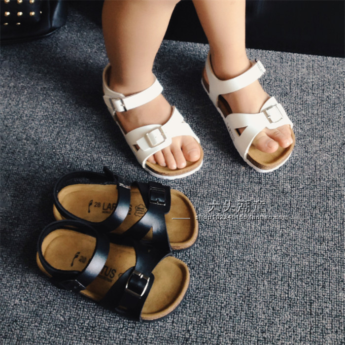 54abd77a01 US $16.7 |New 2015 Summer Kids Shoes Boys and Girls Sandals Brand  BIRKENSTOCK Cork Sandals Boys Shoes Children Beach Sandals (2 8 Years)-in  Sandals ...