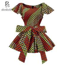 African blouse Women fashion top traditional clothing african clothes women print shirt dashiki plus size