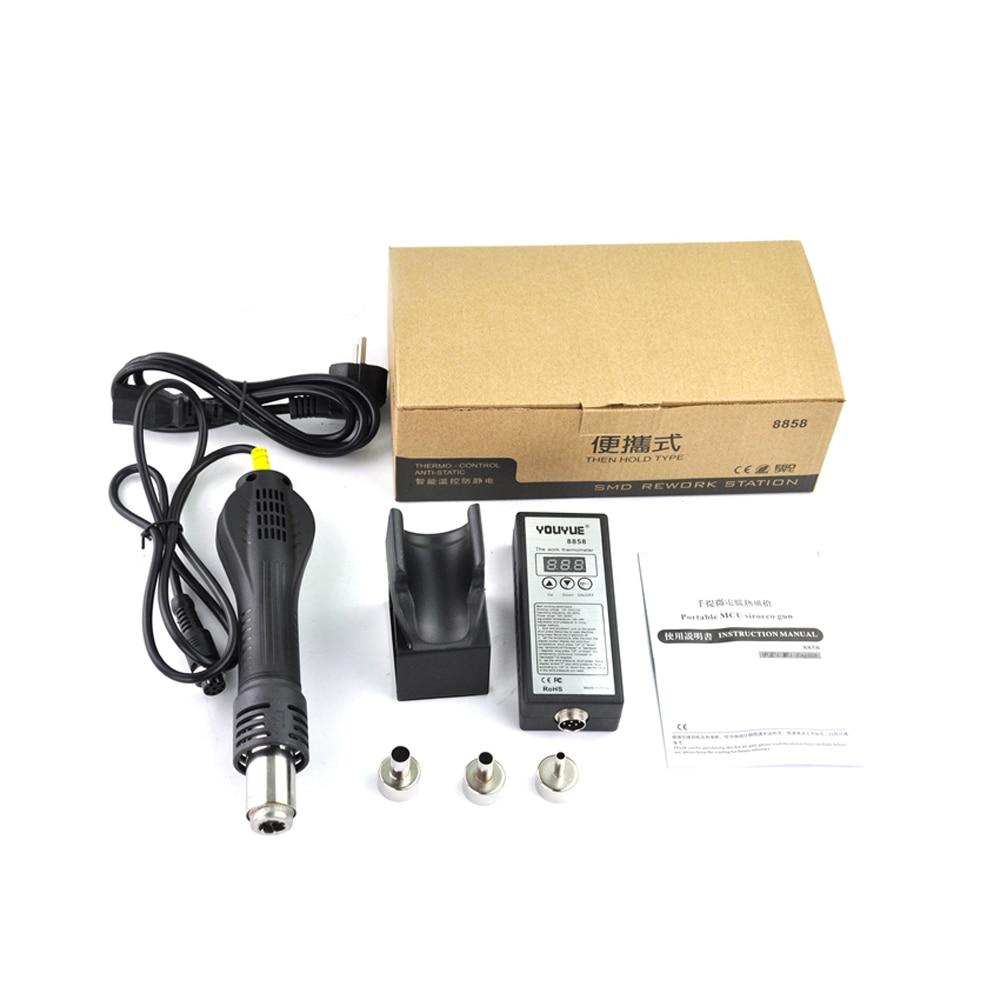 110V/ 220V Portable BGA Rework Solder Station Hot Air Blower Heat Gun YOUYUE 8858 Better Saike 8858 yihua 8858
