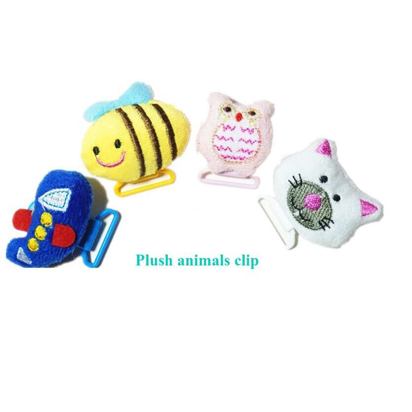 Klip Pacifier Cute Dummy Pacifier Holder Customized Baby Cartoon Bibs - Memakan kanak-kanak - Foto 4