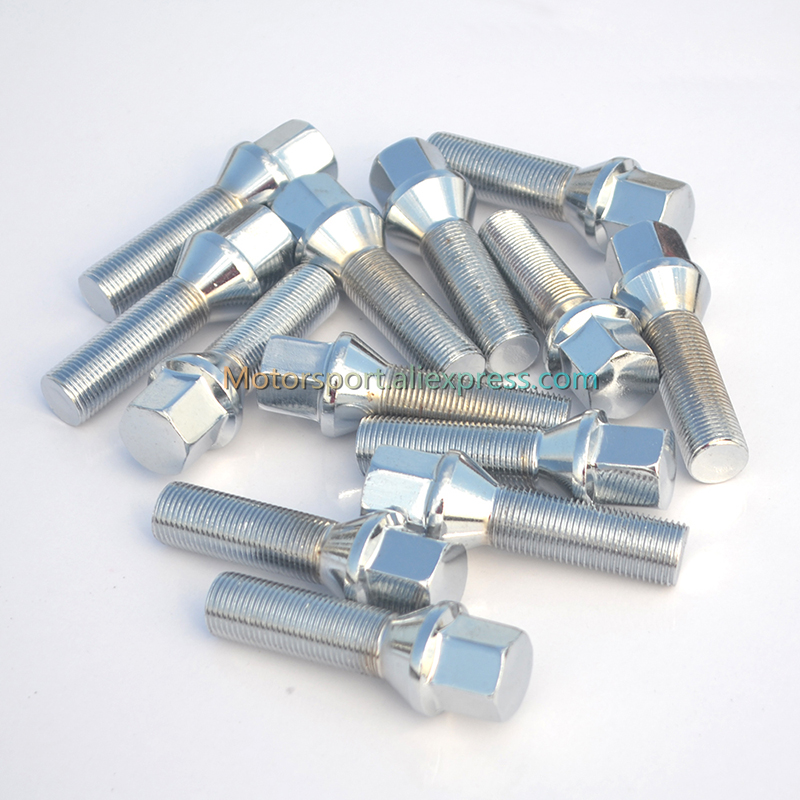 1pc 12x1.5| 12x1.25| 14x1.5| 14x1.25  |40mm |45mm| 50mm| Car Wheel Spacer Adapter Wheel Lug Bolts (cone Seat)