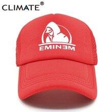 CLIMATE Eminem Rap Music Summer Style King HipHop Baseball Mesh Net Trucker  Cap Hat a921e6d05548