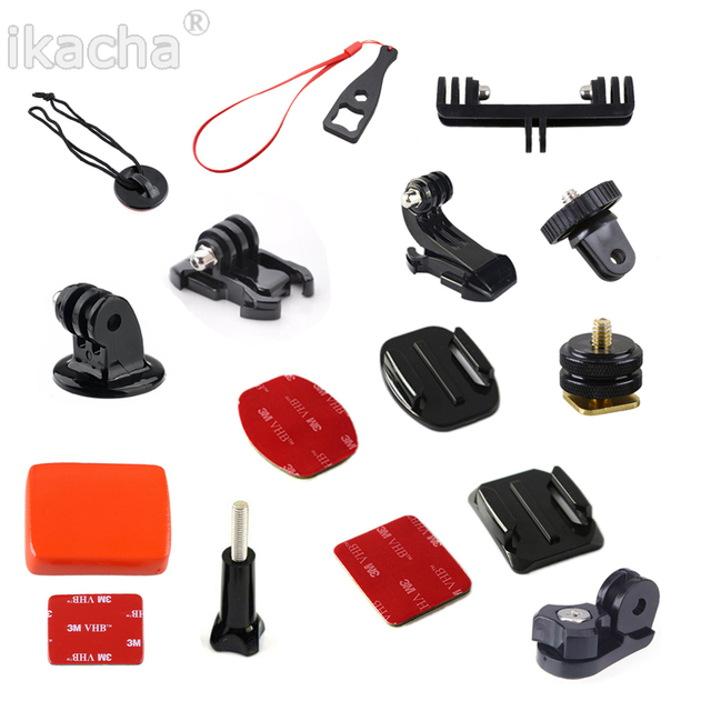 For Gopro Accessories For Gopro Hero 6 For Xiaomi yi Eken H9R Mount Selfie Stick Tripod Action Camera Accessories