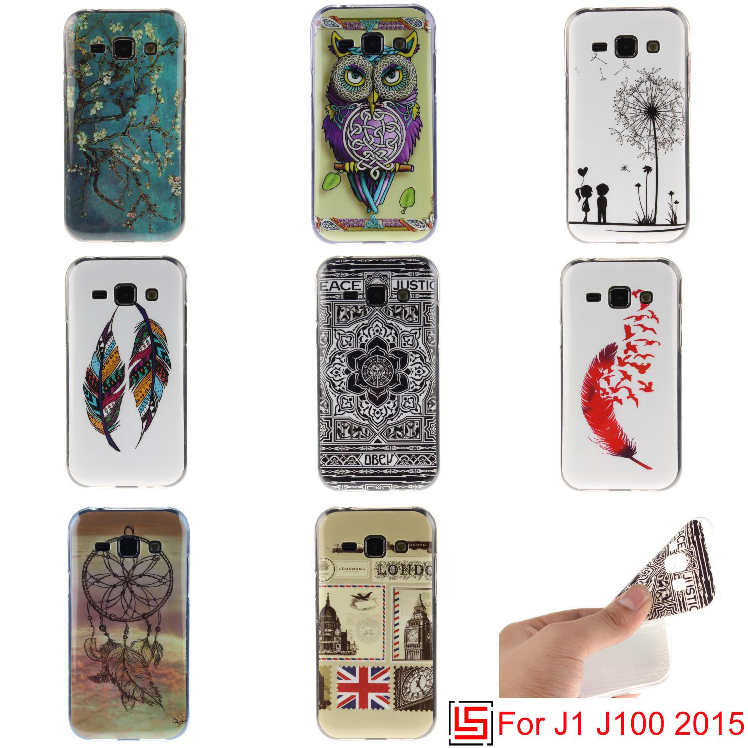 Ultra Thin TPU Silicone Soft Phone Cell Mobile Case capinha cubierta kryty Cover For Samsung Sumsung Samsu Galaxy J1 2015