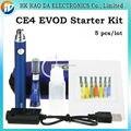 EVOD E cigarro eGo Ce4 bateria Atomizador Clearomizer EVOD Kit único CE4 e líquido para o Cigarro Eletrônico Starter Kit 5 pçs/lote