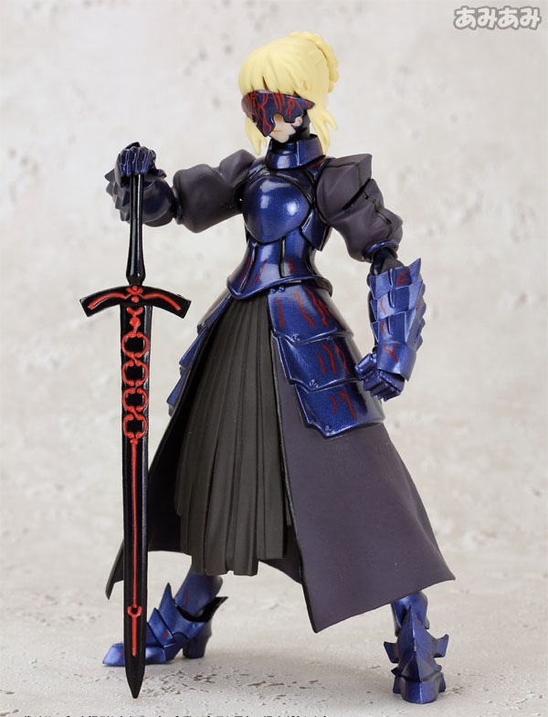 Anime  Fate/stay Night  Fate/Zero Black Saber Excalibur Emiya Shirou 15CM PVC Action Figure Toy Collection Model Gift