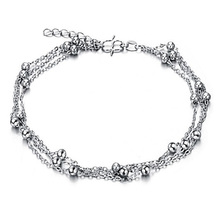 Cute Full Little Balls Indian Anklet Bracelet Argent 925 Foot Chain, 925 Sterling silver Anklets for Women Foot Bracelet Ankle