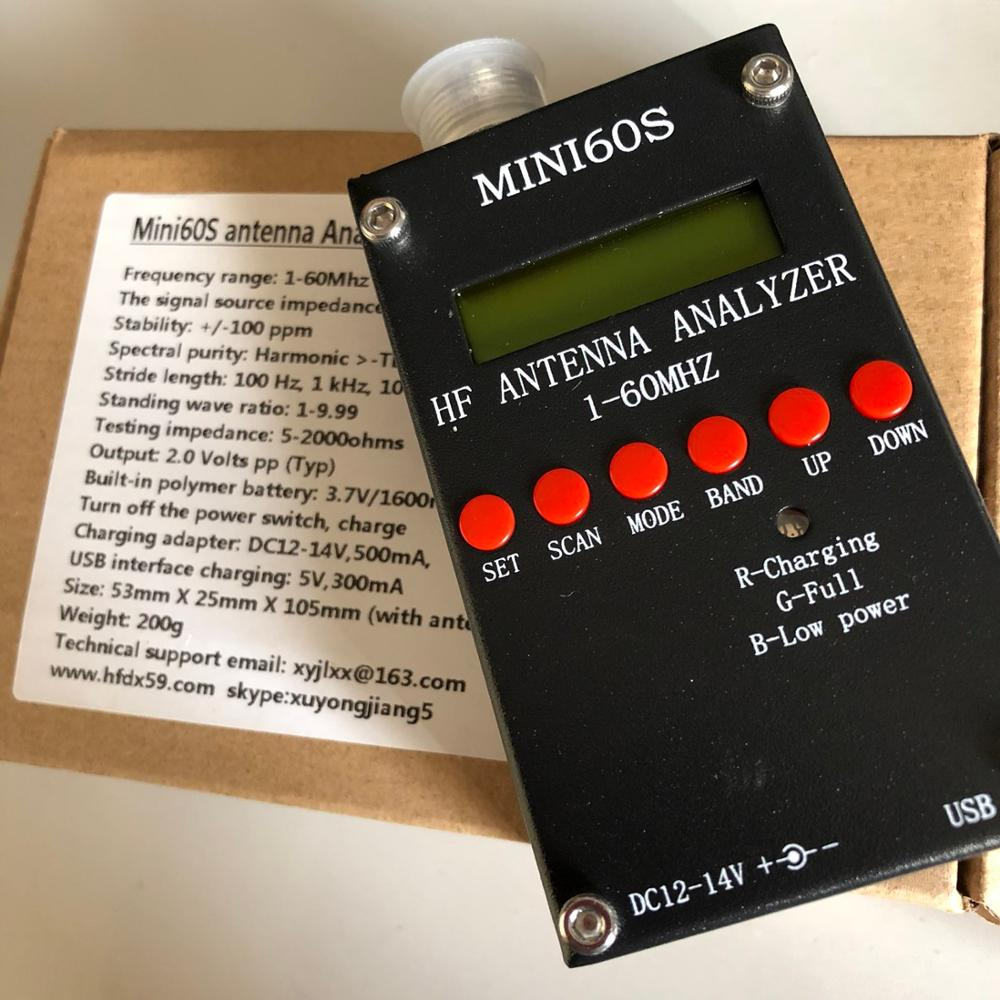 купить New Bluetooth Android verison MINI60S update for MINI60 1 - 60 Mhz HF ANT SWR Antenna Analyzer Meter по цене 7169.66 рублей
