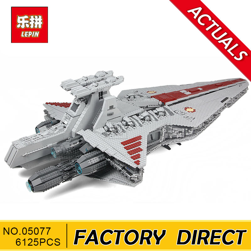 Lepin 05077 Star Series War Genuine The UCS Rupblic Star Set Destroyer Cruiser ST04 Set Building Blocks Bricks Boy Toys lepin 05077 stars series war the ucs rupblic set star destroyer model cruiser st04 diy building kits blocks bricks children toys