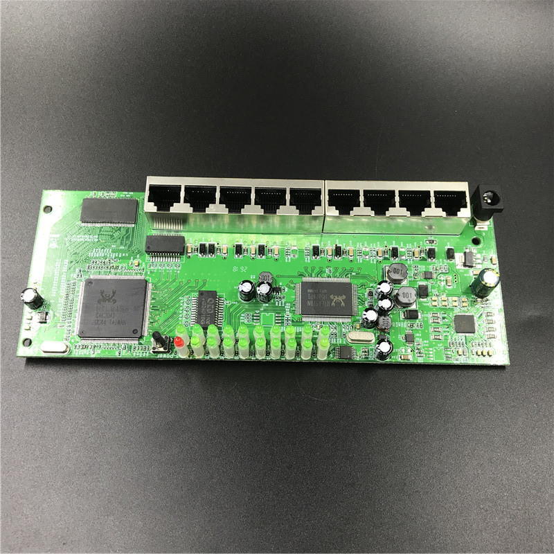 OEM 9 port POE router module manufacturer t sell  full Gigabit 10/100/1000M POE 48V2A router modules OEM wired router module 2