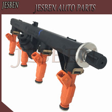 Fuel Rail 0280151048 & Fuel Injectors 0280155769 For Alfa Romeo 145 146 147 156 166 GTV Spider 1.6 2.0 1994-2010  0 280 151 048 цена