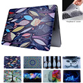 Oil Printing Drawing Hard Case For Macbook Air 11 12 13 Pro13 15 with  Retina Case laptop Matte shell Protective Bag+ keyboard