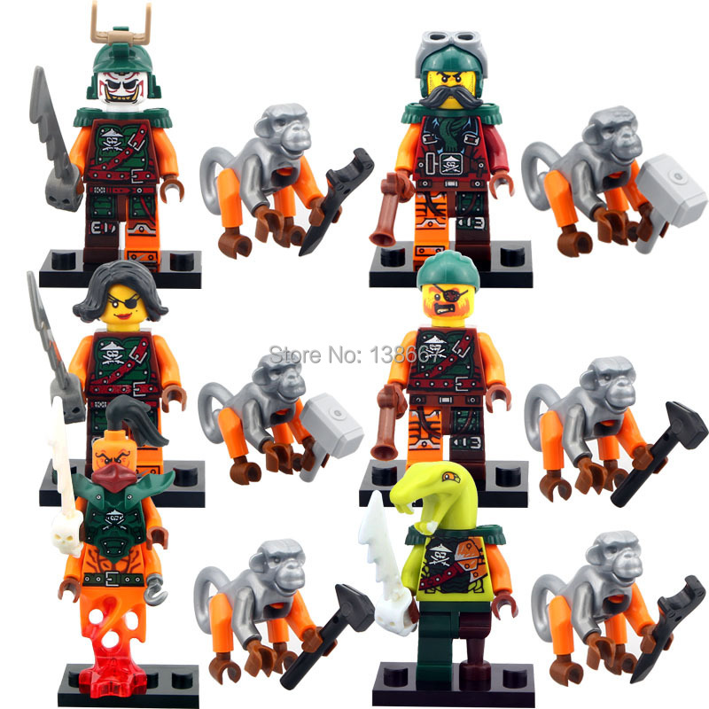 Dependable 6pcs 10035-10040 Ninja Cyren Doubloon Nadakhan Flintlocke Clancee Bucko Pirates Building Blocks Bricks Toy For Children Juguetes Model Building Toys & Hobbies