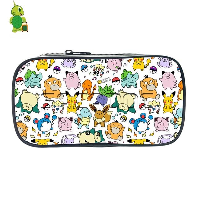 Lucu Pokemon Pikachu Charmander Corat Coret Pensil Case Siswa