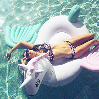 2019 New Inflatable Unicorn Giant Pool Floats 250cm Hot Rainbow Pegasus / Horse Water Float Swimming Fun Toy For Adult And Kids