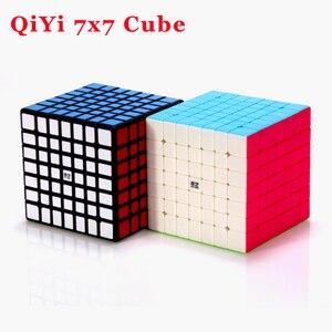 Image 3 - Qiyi Mofangge QiXing Cubo de magia negra sin pegatinas, Cubo de 7x7x7, rompecabezas de 7 capas, juguetes educativos profesionales para niños, regalo
