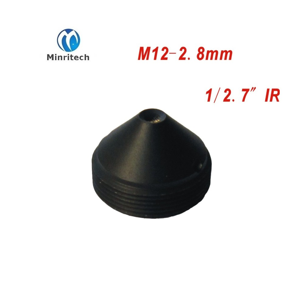 High quality Mini cctv Cone pinhole IR filter lens <font><b>M12</b></font> <font><b>2.8mm</b></font> for cctv camera cam ip cctv lens/ Board Lens image