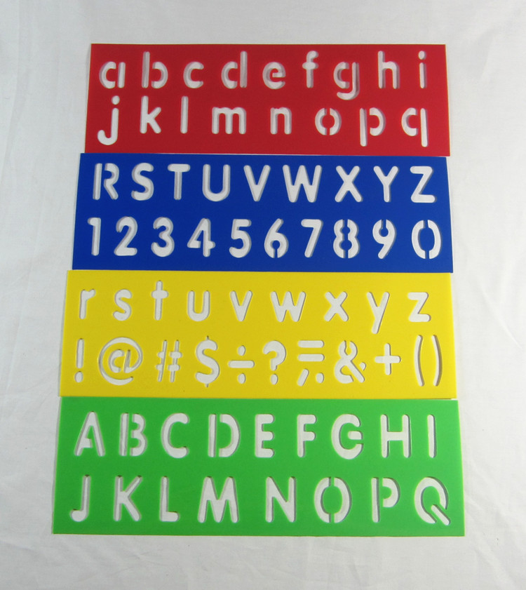 8pcslot alphabet stencilnumbers stencilpp drawing stencil for children - Kids Drawing Stencils