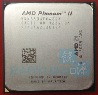 AMD Phenom II X4 850 X4-850 HDX850WFK42GM CPU Processor Quad-Core (3.3Ghz /95W )Socket AM3  938 Pin