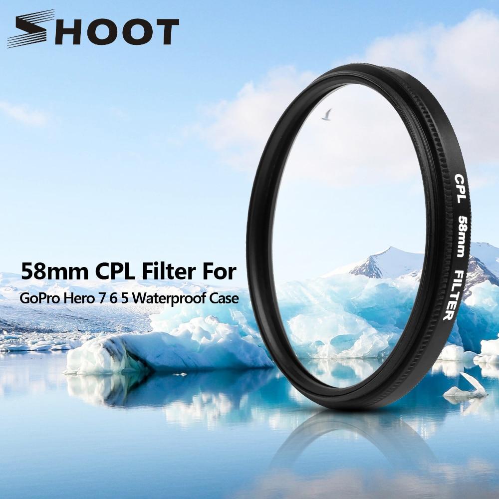 SHOOT 58mm Filtro UV para GoPro Hero 6 5 7 Negro Cubierta de la lente - Cámara y foto - foto 1