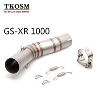 TKOSM GSXR1000 GSXR 1000 Motorcycle Exhaust for SUZUKI GSXR 1000 Motorcycle Performance Stainless Steel for YAMAHA FZ 07