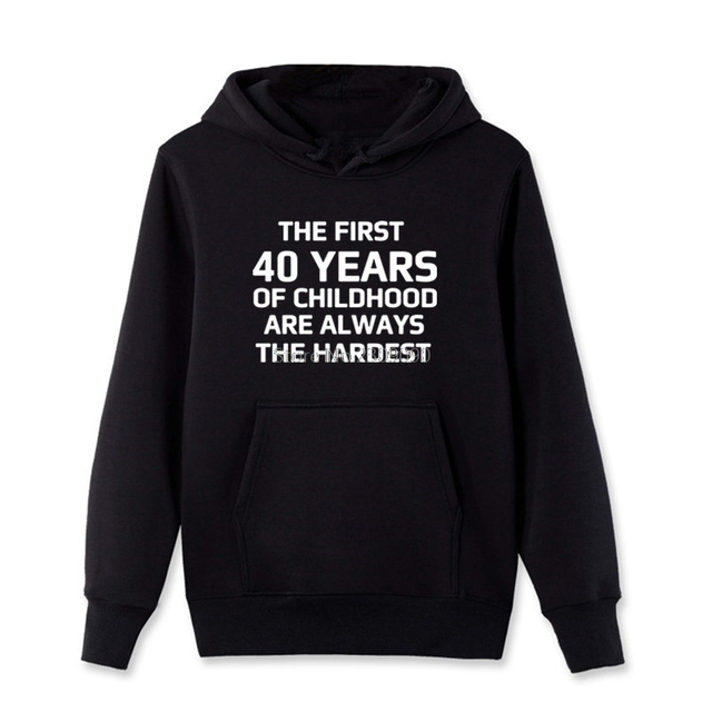 Cool 40 Years Old Sweatshirts Mens Cotton Fleece Birthday Gift Girl 40th Shirt Hip Hop Top Streetwear