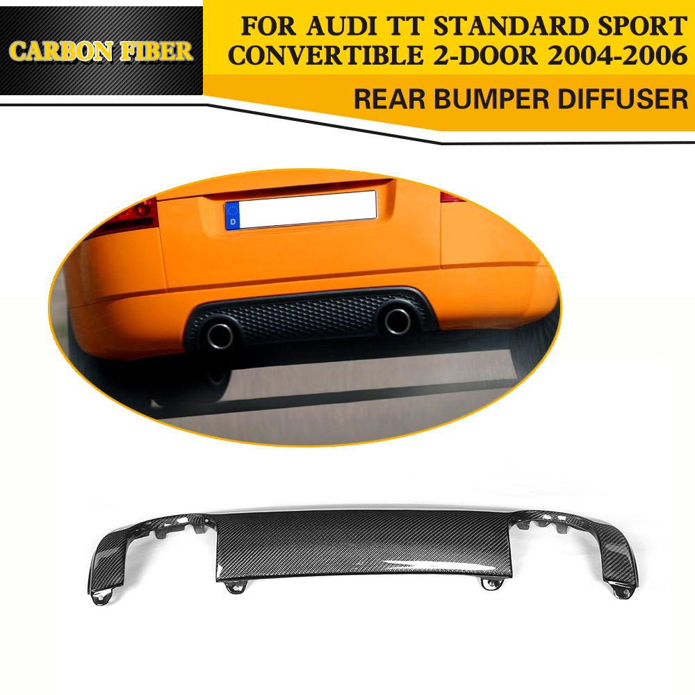 Углеродного волокна сзади губ Авто заднего бампера Диффузор для Audi TT 8N спортивного купе КАБРИОЛЕТ 2 двери 04 06