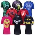 Femenina Camiseta Ocasional Mujeres Superhéroe Superman/Capitán América/Spiderman/Batman Camisetas Culturismo Compresión Tops