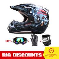 Casco de Motocicleta Casco de cara completa Moto Casco Motocross Casco Motor Kask Capacete Da Motocicleta carreras Capacete gafas de Moto