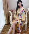 Top Venda Mulheres Verão Faux Seda Kimono Robe Longo Ouro de Banho Vestido de Yukata Camisola Sleepwear Pijama Mujer One Size Msf003