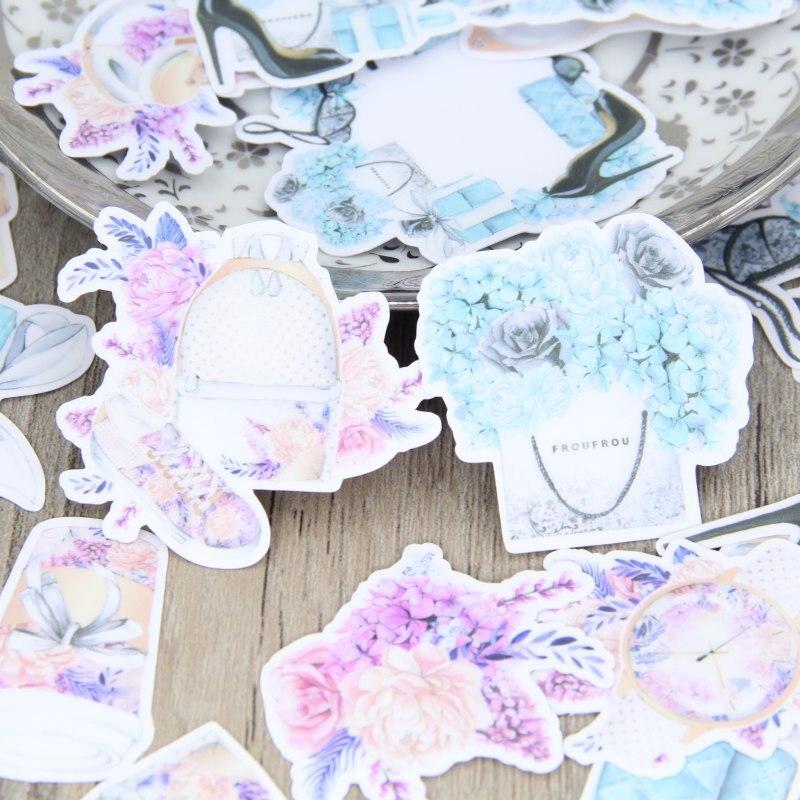 Модные сумки часы Обувь на высоких каблуках Скрапбукинг Наклейки декоративные Стикеры DIY Craft Фотоальбомы наклейки дневник деко