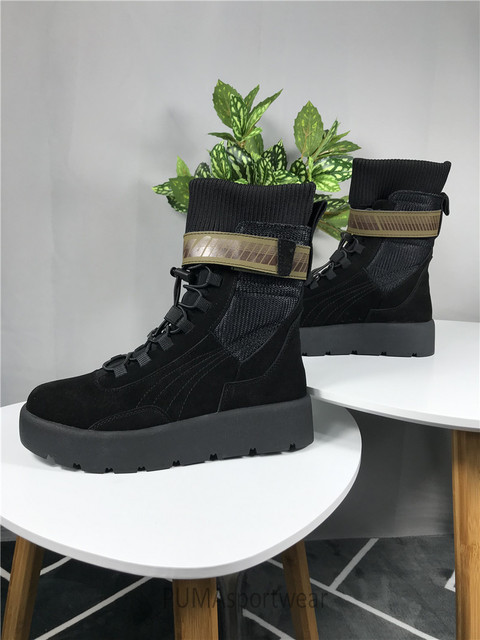 93fce0c2afc Original Puma x Fenty By Rihanna Women Scuba Boot Women s Sneakers Bow Badminton  Shoes Size35-39