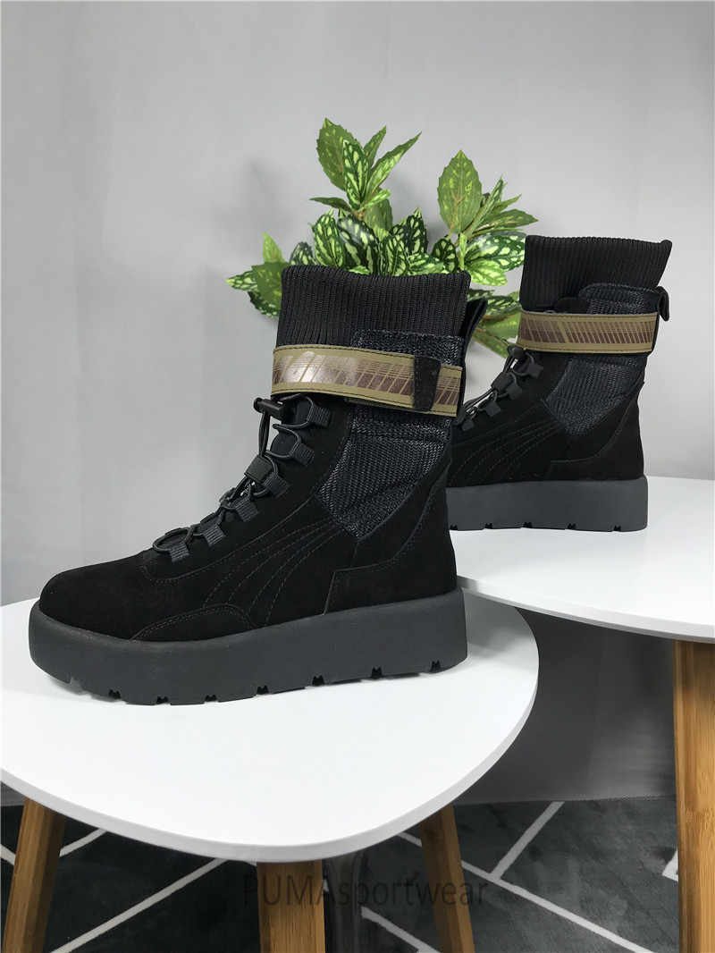 5b69eef75e72 Detail Feedback Questions about Original Puma x Fenty By Rihanna Women  Scuba Boot Women s Sneakers Bow Badminton Shoes Size35 39 on Aliexpress.com