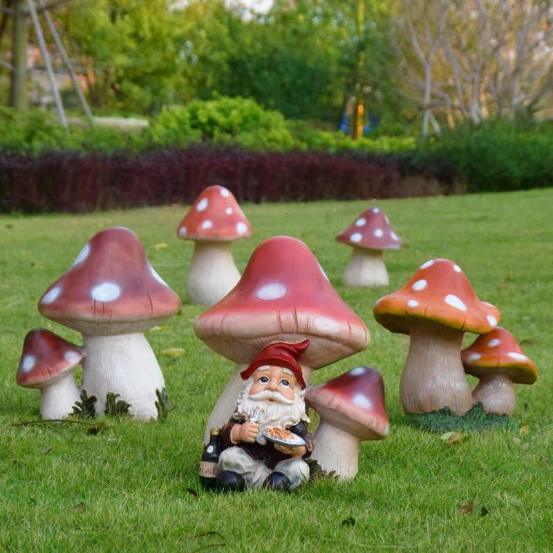 Lucky Mushroom Garden Statue Great Garden Decor For Outdoor