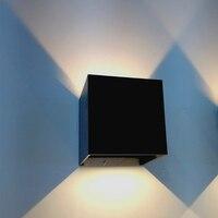 A superfície de alumínio quadrada das luzes da parede montou 3w/6w conduziu lâmpadas de iluminação internas da barra das luzes da varanda ktv