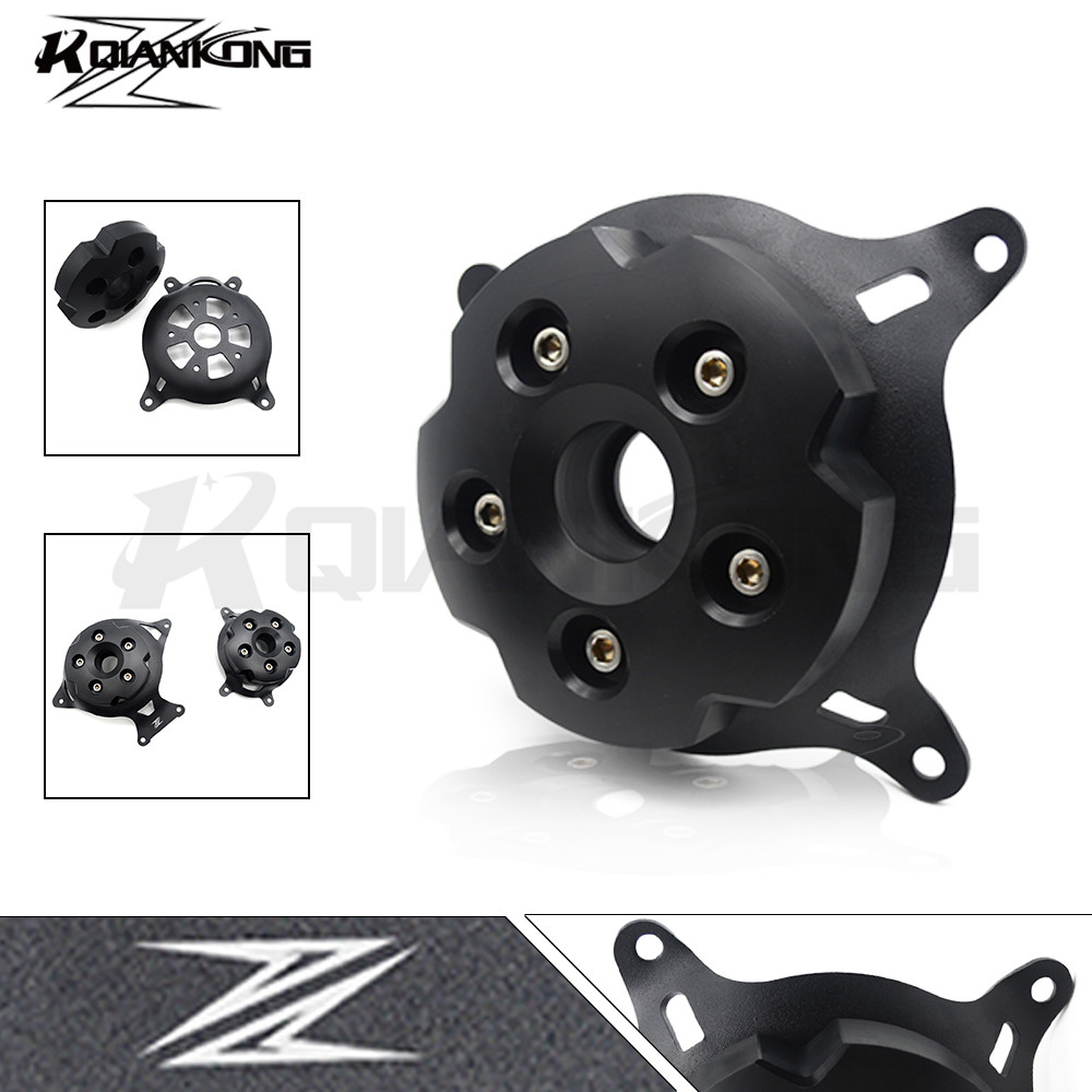 Motorcycle CNC Aluminum Engine Crankcase Slider Engine Cover Saver Protection Side Shield For Kawasaki Z800 Z750 2013-2016 motorcycle cnc 6 hole beveled engine side guard derby cover
