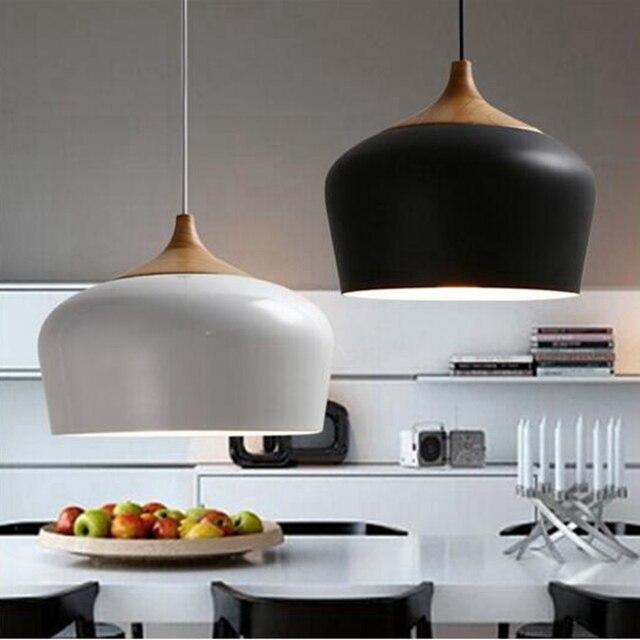 LukLoy Hanglampen, Moderne Keuken Licht Hout Lampenkap Verlichting ...