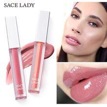 SACE LADY Matte Moisturizing Lip Gloss Velvet Long Lasting Waterproof Rose Nude Make Up Lip Tint Beauty High Shine Lip Lacquer цена