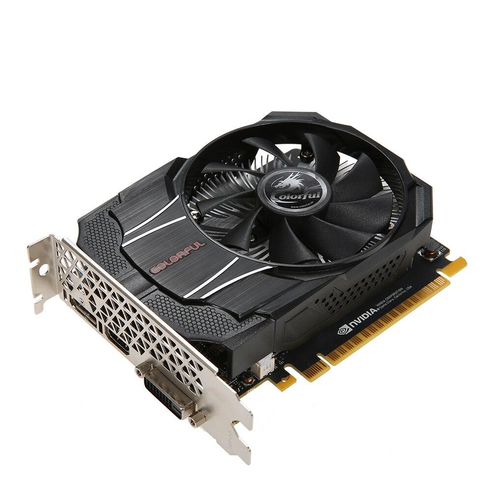 Красочная видеокарта NVIDIA GeForce GTX1050 Mini OC 2G 1354/1455 МГц 7 Гбит/с GDDR5 128 бит PCI E 3,0 с портом HD DP DVI D