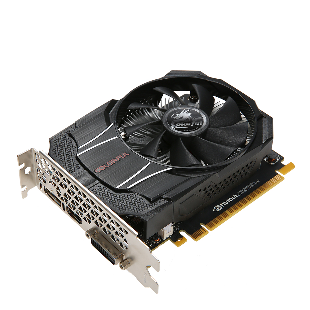 Coloré NVIDIA GeForce GTX1050 Mini OC 2G Carte Graphique 1354/1455 MHz 7 Gbp GDDR5 128bit PCI-E 3.0 avec HD DP DVI-D Port